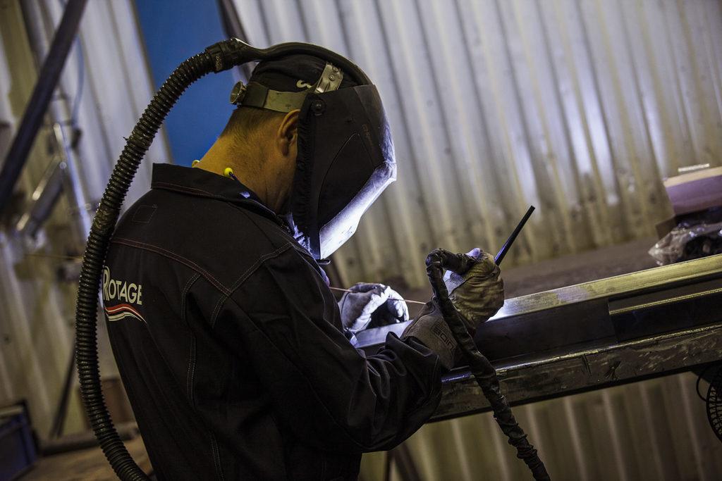 När det gäller svetsning utför Rotage arbeten i både kolstål och rostfritt material