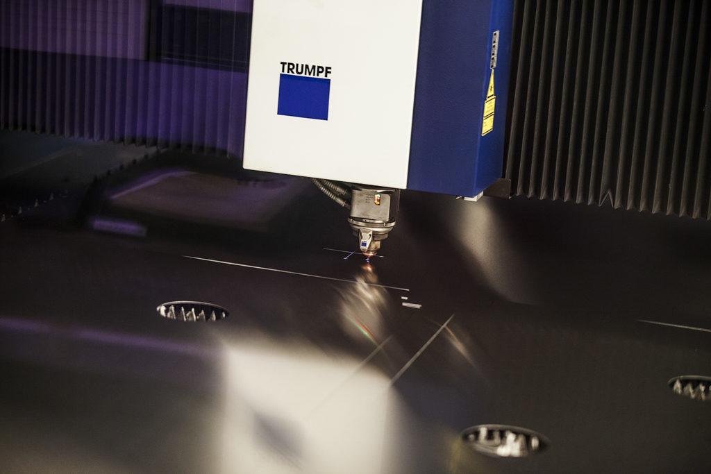 En av Rotage många tjänster är laserskärning. Vi har en fiberlaser.