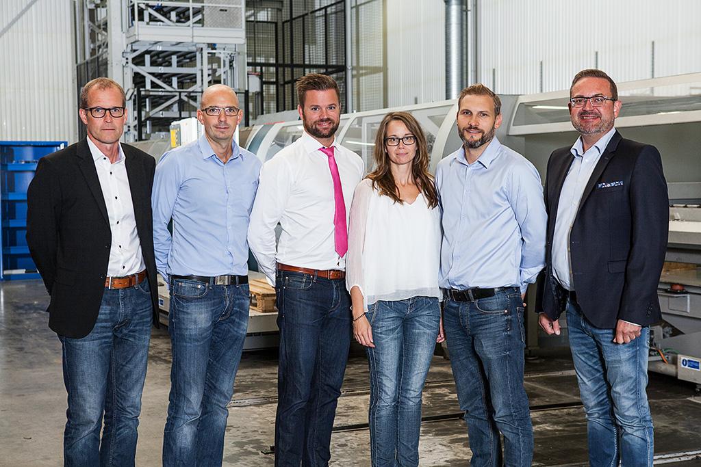 Ledningsgruppen för Rotage. På bilden syns från vänster Sverker Kvarnemark, Antonio Scarlini, Mathias Larsson VD, Eva-Lotta Wilhelmsson, Jonas Andersson och Bo Hansson.